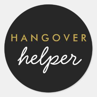 Hangover Helper Wedding Favour Sticker
