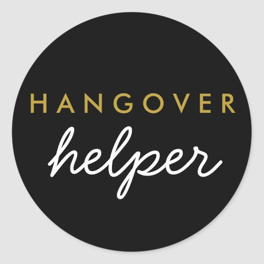 Hangover Helper Wedding Favour Sticker
