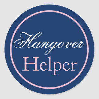 QuotHangover Helperquot Wedding Sticker