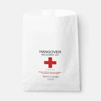 Hangover Recovery Kit Wedding Favor Bag Favour Bags