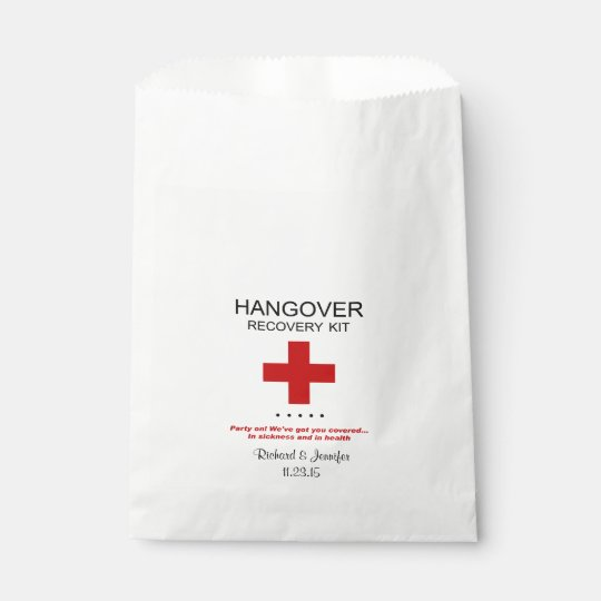 Hangover Recovery Kit Wedding Favour Bag