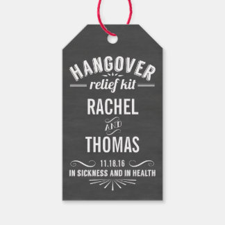 Hangover Relief Kit | Chalkboard Wedding Favor