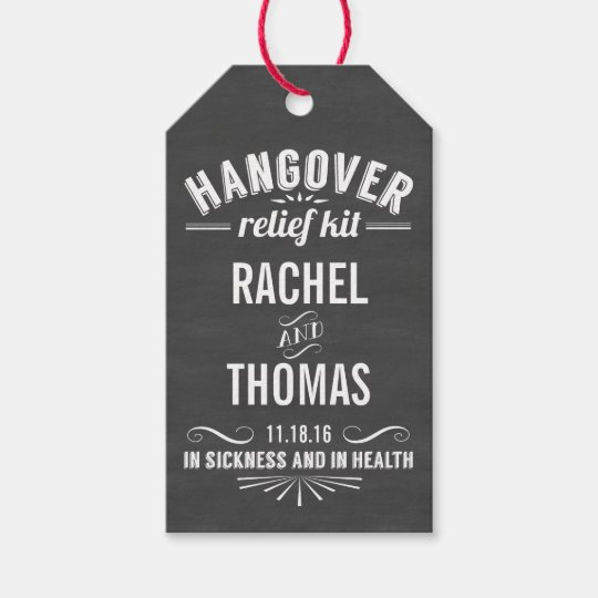 Hangover Relief Kit | Chalkboard Wedding Favour Gift