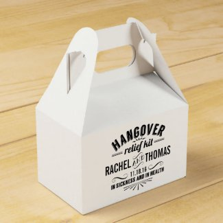 Hangover Relief Kit | Vintage Style Wedding Favour Box