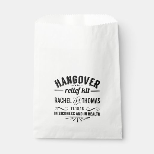Hangover Relief Kit | Wedding