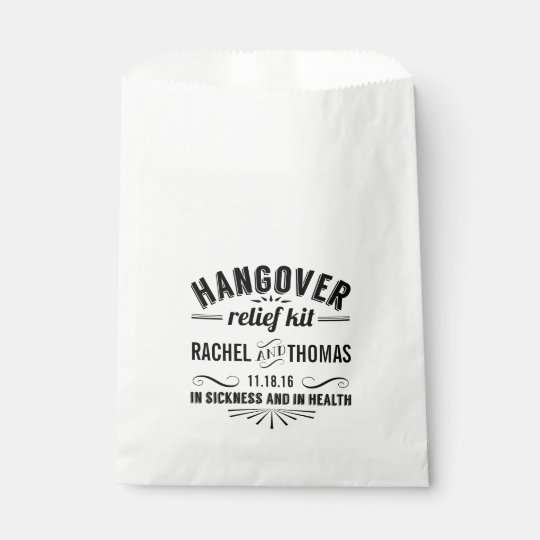 Hangover Relief Kit | Wedding Favour Bags