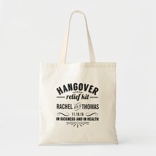 Hangover Relief Kit | Wedding Favour Tote Bag