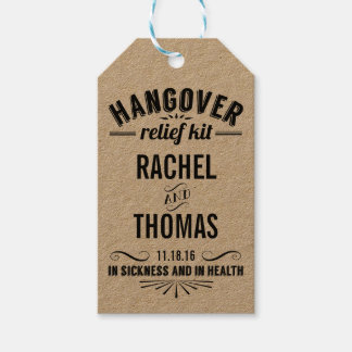 Hangover Relief Kit | Wedding Recovery Favor Gift Tags