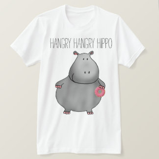 Hangry Hangry Hippo Donut T-Shirt