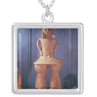 Haniwa figure, 250-550 silver plated necklace