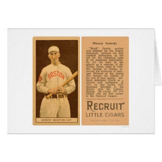 Hank Gowdy Braves Baseball 1912 Card