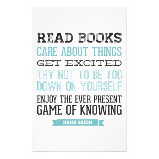 Hank Green Quote Stationery