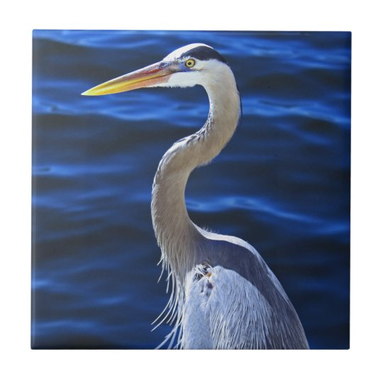 Hank the Heron Small Square Tile