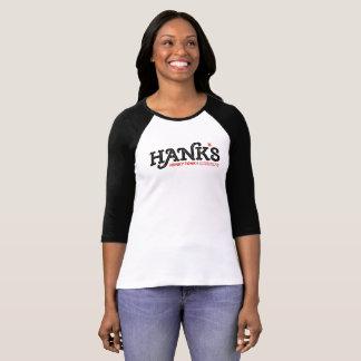 Hank's Honky Tonk 3/4 (Women's) Black T-Shirt