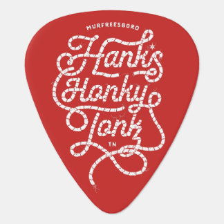 Hank's Honky Tonk Red Guitar Pick