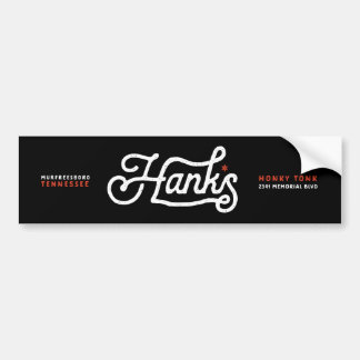 Hanks Signature Logo Black Sticker