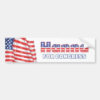 Hanna for Congress Patriotic American Flag Bumper Sticker