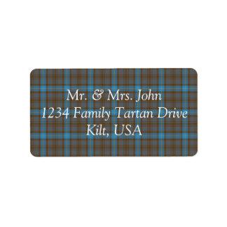 Hanna  Tartan Label Address Label