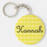 Hannah Basic Round Button Key Ring