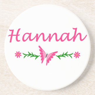 Hannah Pink Butterfly Drink Coasters