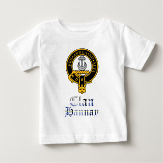 Hannay scottish crest and tartan clan name baby T-Shirt