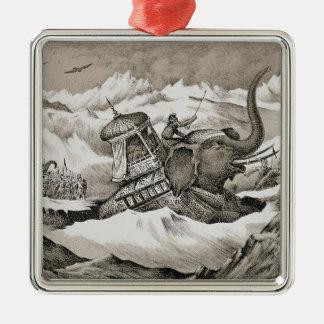 Hannibal (247-c.183 BC) and his war elephants cros Christmas Ornament