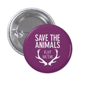 Hannibal Eat the Rude / Save the Animals Badge