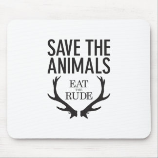 Hannibal Lecter - Eat the Rude (Save the Animals) Mouse Mat