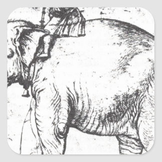 Hanno, The Popes Leo X Elephant by Raphael Square Sticker