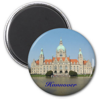 Hannover 6 Cm Round Magnet