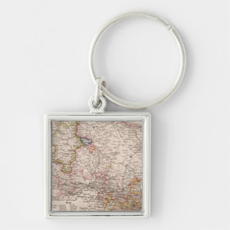 Hannover, Germany Silver-Colored Square Key Ring
