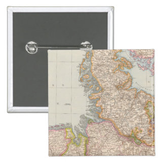 Hannover, SchleswigHolstein, North Germany Map 15 Cm Square Badge