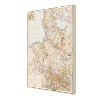 Hannover, SchleswigHolstein, North Germany Map Stretched Canvas Prints