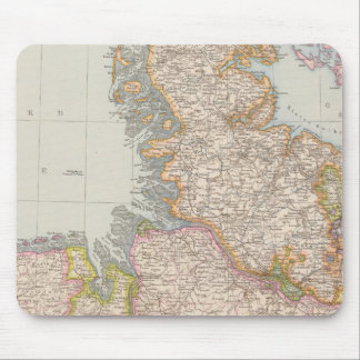 Hannover, SchleswigHolstein, North Germany Map Mouse Pad