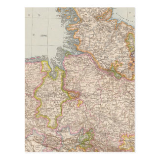 Hannover, SchleswigHolstein, North Germany Map Postcard