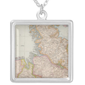 Hannover, SchleswigHolstein, North Germany Map Silver Plated Necklace