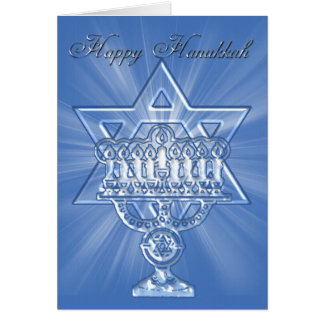hannukah card with star and candles