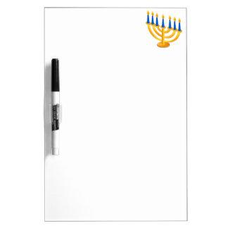 Hannukah Menorah Dry Erase Whiteboards