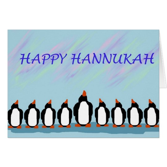 Hannukah penguins card