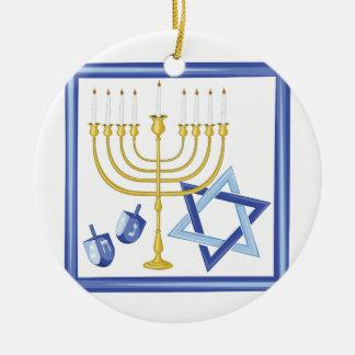 Hannukah Symbols Christmas Ornament