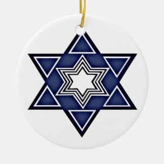 Hannukkah Star of David Round Ceramic Decoration