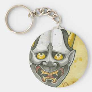Hannya Basic Round Button Key Ring