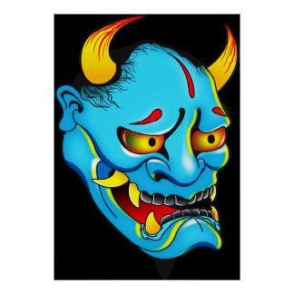 Hannya Demon Mask Poster