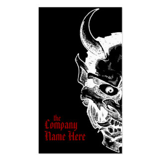 hannya mask Double-Sided standard business cards (Pack of 100)