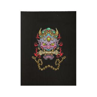 "Hannya Mask Wood Poster, 19"" x 14.5"" Wood Poster"