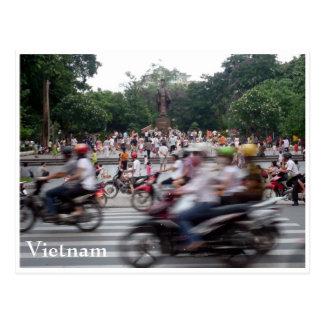 hanoi peak hour postcard