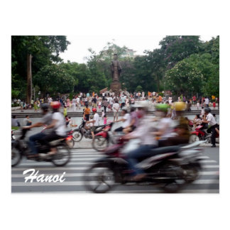 hanoi traffic postcard