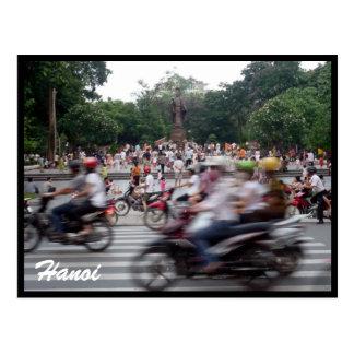 hanoi traffic speed postcard