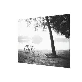 Hanoi Vietnam, Bicycle & Bay Mau Lake Lenin Park Canvas Print