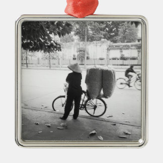Hanoi Vietnam, Bicyle Delivery Woman (NR) Christmas Ornament